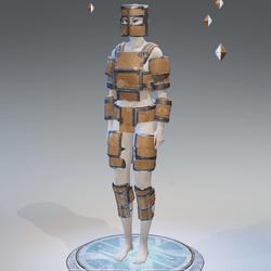 cardboard armor female
