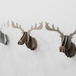 Moose head in wood