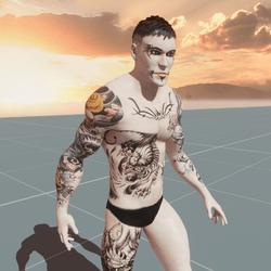 Witcher Custom AV2 with real tattoos