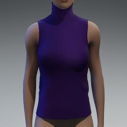 Violet turtle neck top