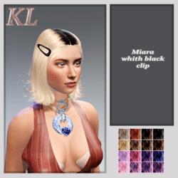 miara -hair +black clip