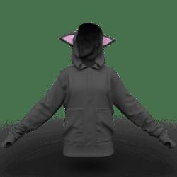 Cat Hoodie Black-Pink Short