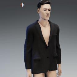 Men's Suit Jacket Striped Grey