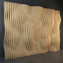 Wooden Wave Wall