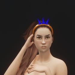 Mermaid Crystal Tiara 04 (Glowing)