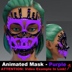 Animated Mask: Purple - Female Avatars