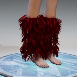 GoGo Dancer Furry Legwarmers WINE RED