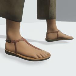 TKA Brown leather slave sandals