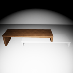 Cliff TV-Table - White/Walnut