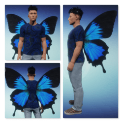 Wings Animated - Male - Blue