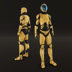 Female space suit NC 2020_F yellow