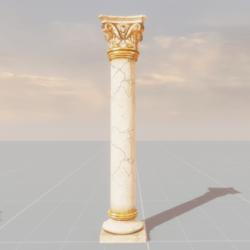 Artistic Gold Column