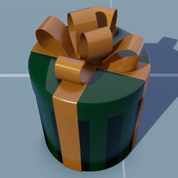 Gift Round(Pattern) with Orange Bow