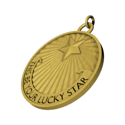 Titanic 'This Be Your Lucky Star' GOLD Pendant (male)