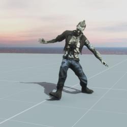 Zombie Falling Death NPC  (FROM MIXAMO)
