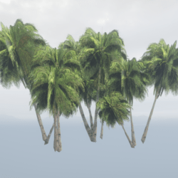 Tropical Palm Set with 11 Palms - Dark Green