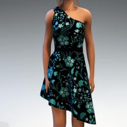 Shoulder Strap Dress in Painted Garden - Mint