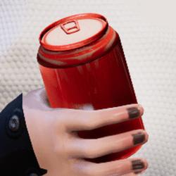 Bottle l-red in arm
