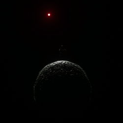 Planetoid with little sun