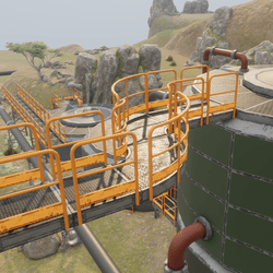 Industrial Stairs & Catwalk Set