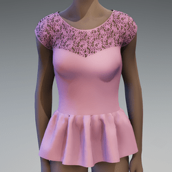 Pink peplum lace top