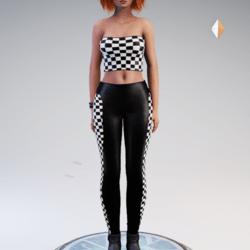 Chess Outfit - Top and Leggings - Av 2.0