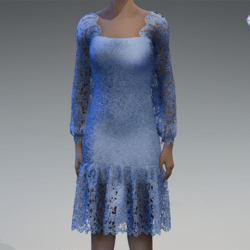Baby blue lace dress