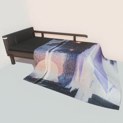 Modern bed - winter