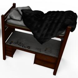 Twin Desk Bed No.1