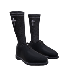 Clergy shoes with socks