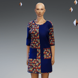 Short Blue Ankara Gown