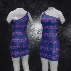 Dress Maja Triangle blue