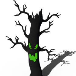Spooky Scary Tree Halloween Decoration