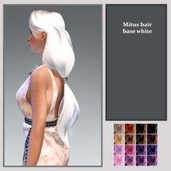 mitus hair-base white