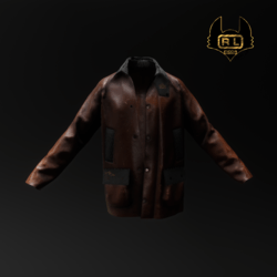 R.L.LEATHER BROWN CHOCCOLATE LONG JACKET