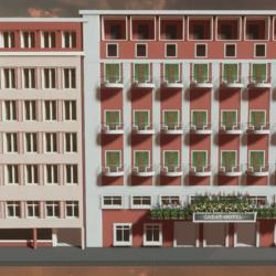 Multi-storey hotel building