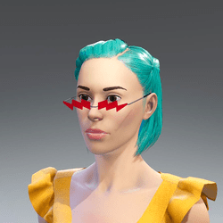 红色闪电眼镜Red lightning glasses