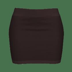 Woman Simple Skirt - Brown