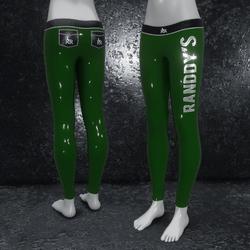 Leggings Latex metallic old green