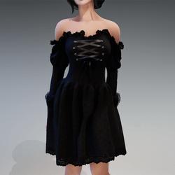 "Gothic Fairy Dress ""Bella"" in Black"