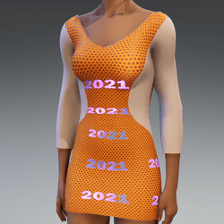 2021 Emissive Dress Orange