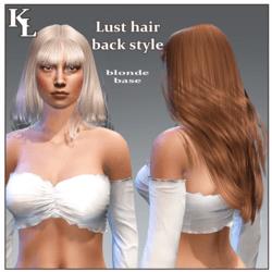 Lust hair-back style-blonde base