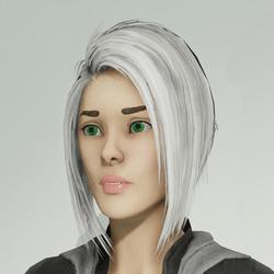 Hair Bob White (Default Female)