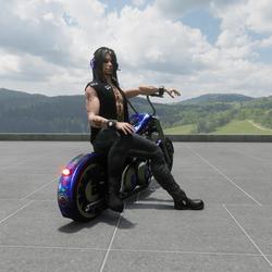 Side sit on bike emote