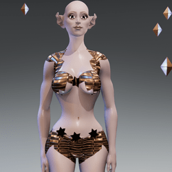AVATAR- Elf with Golden Outfit