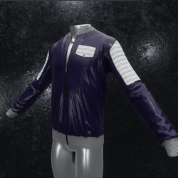 Leather Jacket Ron purple