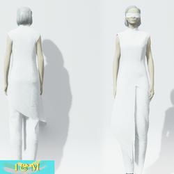 Futuristic goth White