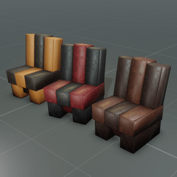 Blocky Club Leather Chair