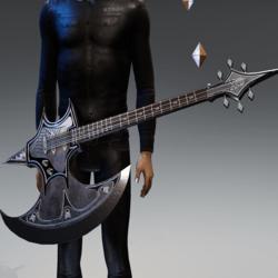 Battle axe guitar of doom