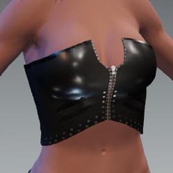 TnT_Black Leather Corset